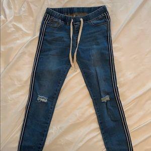 Striped Leg Forever 21 Jeans